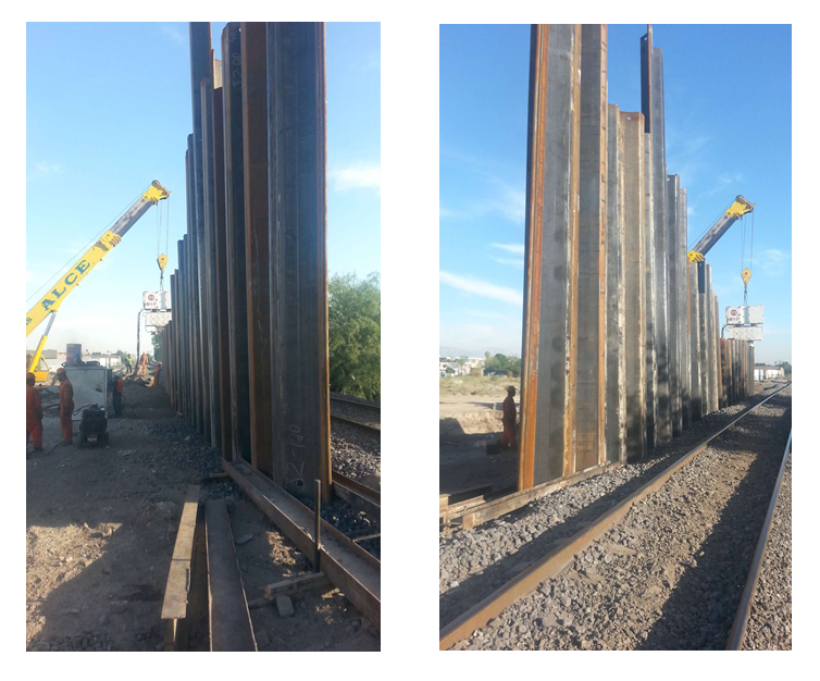 JZ120 sheet pile for rail track protection