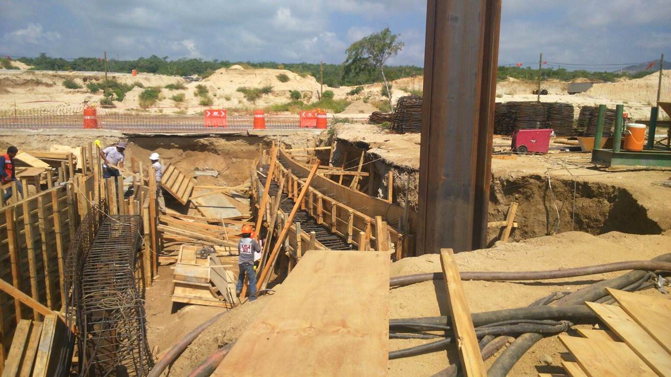 JZ120, JZ 127 and flange stiffened JZ120 sheet pile for under pass
